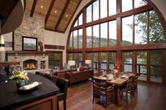 Can you imagine having this room with those windows and that view?