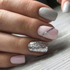 Beauty Nails – Nail Art Design Nagellack # Nagellack # Nageldesign - Make-up Geheimnisse Beauty Nails - Nail Art Design Esmaltes # Esmaltes # Nail Design de unha Fancy Nails, Trendy Nails, Diy Nails, Cute Nails, Pink Shellac Nails, Pink Grey Nails, Shellac Pedicure, Gray Nail Art, Classy Nails