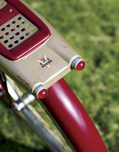 Red Glass Bicycle Reflectors: THE MOST SOUGHT-AFTER VINTAGE BIKES: 1950S CRUISERS, 1960S STINGRAYS GLASS REFLECTORS 1951 J.C. Higgins-brand bike