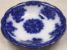 Flow Blue Plate by Sea Witch Antiques, via Flickr