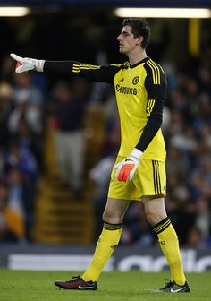 Thibaut Courtois - Chelsea v Real Sociedad, 12th August 2014. My leetle fish. . . okay, he's not little. At all.
