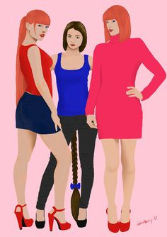 Julie, Laura and Jessie 2 (OC) by JohnHeavy.deviantart.com on @DeviantArt