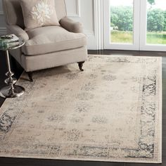 Found it at Wayfair - Malakoff  Cream/Blue Area Rug