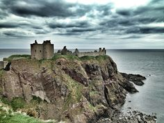 Dunnottar Castle in Stonehaven, Aberdeenshire, Scotland