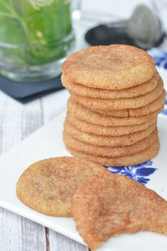 Baking Recipes, Cookie Recipes, Dessert Cake Recipes, Desserts, Best Snickerdoodle Cookies, Cookies Gluten Free, Sweet & Easy, Snicker Doodle Cookies, Cheap Meals