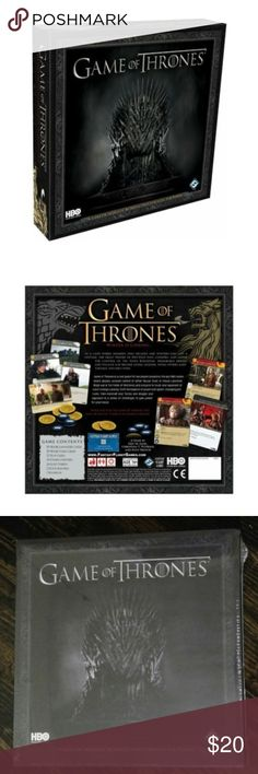 Game Of Thrones Card Game By Fantasy Flight Games Brand new Sealed. Age 14+ Description: This is a card game for two players based on the epic HBO series where players wage war in the fields of Westeros and conspire to crush their opponents at court in Kings Landing. You can shift the balance of power with game-changing plot cards, then marshall your forces and engage your opponent in a series of challenges to gain power for your House. Fantasy Flight Games Other