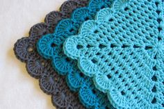 Scalloped Edge Dishcloths - Three Pack - pinned by pin4etsy.com