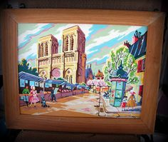 Vintage Framed Paint by Number Painting / Mid by retrosideshow, $175.00