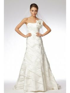 Taffeta Strapless Softly Curved Neckline Wedding Dress