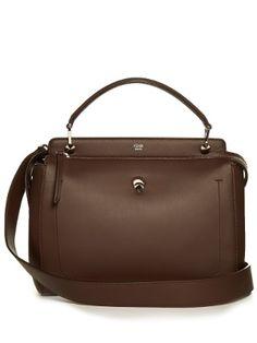 4d71ccea44b9 FENDI PEEKABOO X-LITE - Black leather bag - view 1 detail