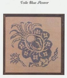 Toile Blue Flower - (Cross Stitch) Save 20% off your first order at Cobweb Corner with coupon code WELCOMECC