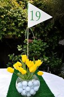 Golf themed center pieces