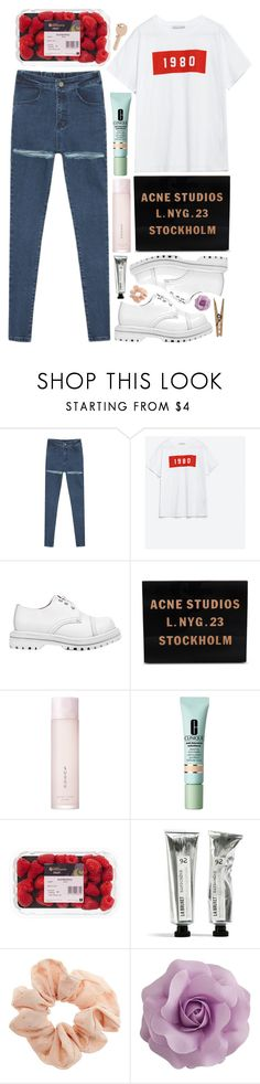 """""""sound & vision"""" by emmaadv ❤ liked on Polyvore featuring Zara, Jeffrey Campbell, Acne Studios, SUQQU, Clinique, Topshop and Maison Margiela"""