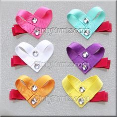 Conversation Heart Hair Clippies