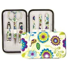 EMILY MANICURE GIFT SET SKU: 42965 by Brownlow. $10.99. Oh so cute and practical too?! What a combination! Stylish gifts that every woman needs can easily fit in your purse or tote! Each Manicure Gift Set contains a padded, stylish, handy carrying case and 6 matching manicure tools! Get two for yourself and one for each of your friends and family today these are HOT!