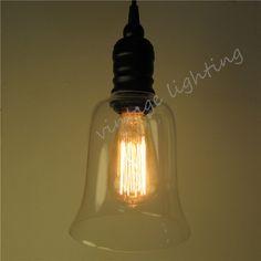 Retro glass pendant light
