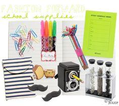 Fashionable school supplies!
