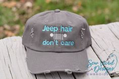 939ffcc7 Jeep Hair don't Care Baseball & High Ponytail Cap Custom Embroidered  Hats,