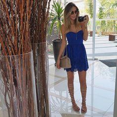 Look de ontem, que to postando hj!✌🏻💙 | Vestido fresquinho e lindo, by @mosaicovirtual 😻😻 | #lategram #ootd #lookoftheday #maricoelho