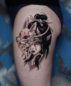 """✚ TATTOO ARTIST ✚ on Instagram: """". . . . . . #ooqza #tattoomoscow #japaneseart #mangatattoo #manga #onlythedarkest #darkartists #wheretheytatt #equilaterra #blacktattooart…"""" Manga Tattoo, Anime Tattoos, Skull Tattoos, Tribal Tattoos, Sleeve Tattoos, Mini Tattoos, New Tattoos, Tattoo Sketches, Tattoo Drawings"""