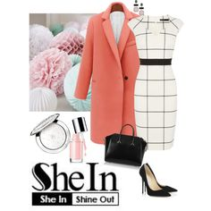 SheIn coat♡ by lera-chyzh on Polyvore featuring Karen Millen, Jimmy Choo, Givenchy, Chico's and Guerlain