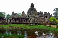 Angkor temple. Looks like one of the scenes from the Mortal Combat movie.