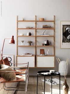 SVALNÄS shelving by IKEA, styling by Anna Lenskog Belfrage and photography by Ragnar Ómarsson for the Livet Hemma magazine