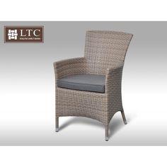 Křeslo z umělého ratanu Rico šedobéžové :: LTC-umělý-ratan. Outdoor Chairs, Outdoor Furniture, Outdoor Decor, Armchair, Garden, Home Decor, Sofa Chair, Single Sofa, Garten