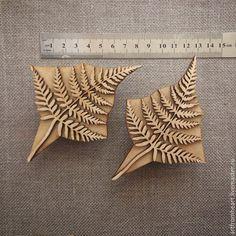 Другие виды рукоделия ручной работы. Ярмарка Мастеров - ручная работа. Купить штампы для печати на ткани (кубовой набойки) Папоротник. Handmade.