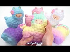 Scented alpaca squishy by Vlampo Jumbo Squishies, Kawaii Shop, Cute Designs, Super Cute, Packaging, Japanese, Play, Youtube, Gifts
