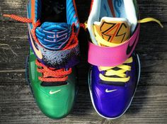 Nike Zoom KD IV What The KD Customs by Mache #NikeZoomKDIV