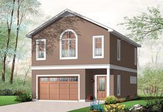Love this 1 bedroom, 2 bath apartment over the garage. Income property? Garage Plan chp-45564 at COOLhouseplans.com