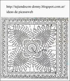TEJIDOS A CROCHET - GANCHILLO - PATRONES: MUSCULOSA A GANCHILLO CON SOLO DOS CUADROS , MUY ELEGANTE
