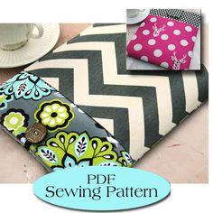 Macbook 13 Sleeve with Pocket Pattern , Macbook Case Pattern, Macbook Cover PDF Sewing Pattern Ebook Sewing Tutorial,Instant Download