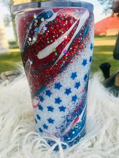 Glitter Stars, Blue Glitter, Glitter Cups, Glitter Tumblers, Vinyl Tumblers, Custom Tumblers, Vinyl Crafts, Resin Crafts, Resin Art