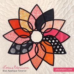 Sew the Lotus Applique Clutch Purse - - Free PDF + Video Tutorial by Jenna Buescher-Hill + Alyssa Lichner