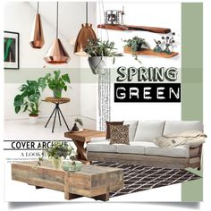 Green Day Decor by clotheshawg on Polyvore featuring interior, interiors, interior design, home, home decor, interior decorating, Sarreid, Sunpan, Dyberg Larsen and UGG Australia