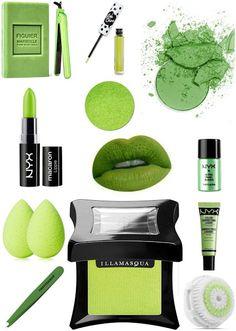 Greenery :pantone 2017 fashion outfit decoration makeup