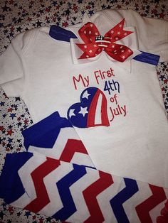 Hey, I found this really awesome Etsy listing at https://www.etsy.com/listing/182341802/baby-girls-my-first-fourth-4th-of-july