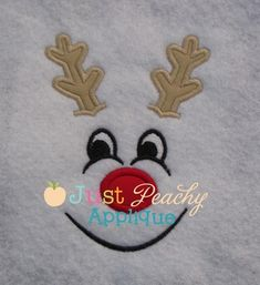 Reindeer Face Boy Applique Design Maybe put some bows on the antlers.