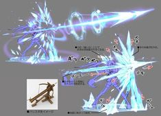 Magic crossbow - weapon effect Art Reference Poses, Drawing Reference, Character Concept, Character Art, Magic Design, Anime Weapons, Weapon Concept Art, Magic Art, Ice Magic