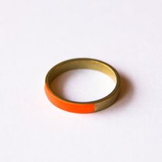Brass Round Ring Orange now featured on Fab.