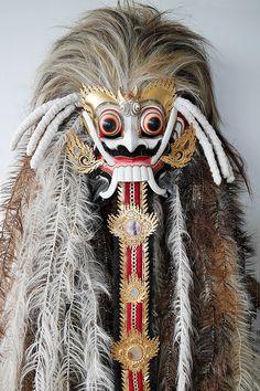 Rangda Costume Materials: Painted wood, hair, cloth Location: Bali Demon Haunted World, Barong Bali, Ritual Spirit, Drama Masks, Costumes Around The World, Indonesian Art, Head Mask, Painted Wood, Asian Art