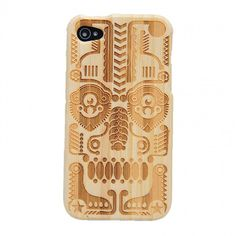 Totem Bamboo Hard Case Cover for Iphone4/4s Onfancy Etsy store, $19.90