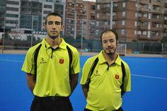 Con Luis Montañes. arbitrando juntos en Beteró Valencia