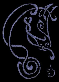 Celtic Knot Horse by ~finish my Tex tattoo with this in lavenders grey scaled behind the AB on my back already. Celtic Pride, Irish Celtic, Celtic Symbols, Celtic Knots, Celtic Horse Tattoo, Celtic Tattoos, Horse Tattoos, Celtic Tribal, Celtic Art