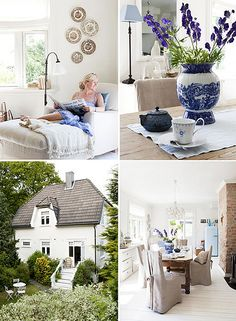 This beautiful house is decorated in that typical Scandinavian style: shades of whites, beige, and light blues, white wooden floors and wooden furniture.Her work has been published in Norwegian and. Scandinavian Style, Swedish Decor, Scandinavian Interiors, Nordic Chic, Swedish Style, Swedish House, Scandi Style, Nordic Style, Home Living Room