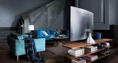 Fernseher Mitten Im Raum Positionieren U2013 Ideen Für Aufstellung Von TV Im  Wohnzimmer