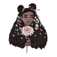 """10.3k Likes, 91 Comments - m i c h e l l e (@procrastiartist) on Instagram: """"quick warm up ref-doodle with this absolute beauty from #afropunk ! Too magical to resist ! •…"""""""