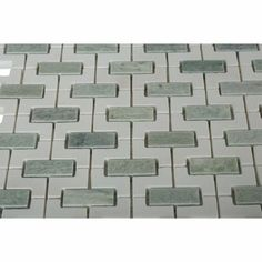 Splashback Tile Rorschack Ming Green and Thassos Polished Marble Floor and Wall Tile - 3 in. x 6 in. Tile Sample-C3B2RORMNGRN - The Home Depot
